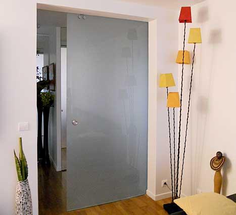 Votre porte verre coulissante sur mesure ? Glass Lab Paris !