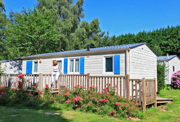 This two bedroom mobile home for disabled people is one accommodation option at the campsite