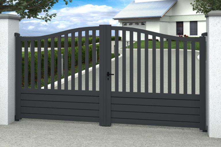 portail plein ou portail barreaux pour votre propri t crea. Black Bedroom Furniture Sets. Home Design Ideas